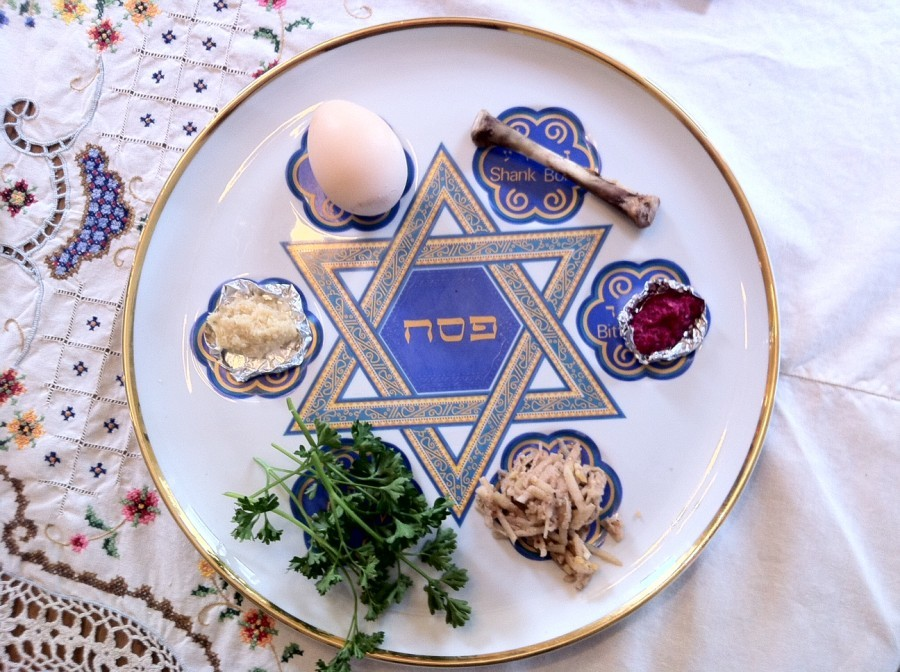 Round Large Passover Seder Plate