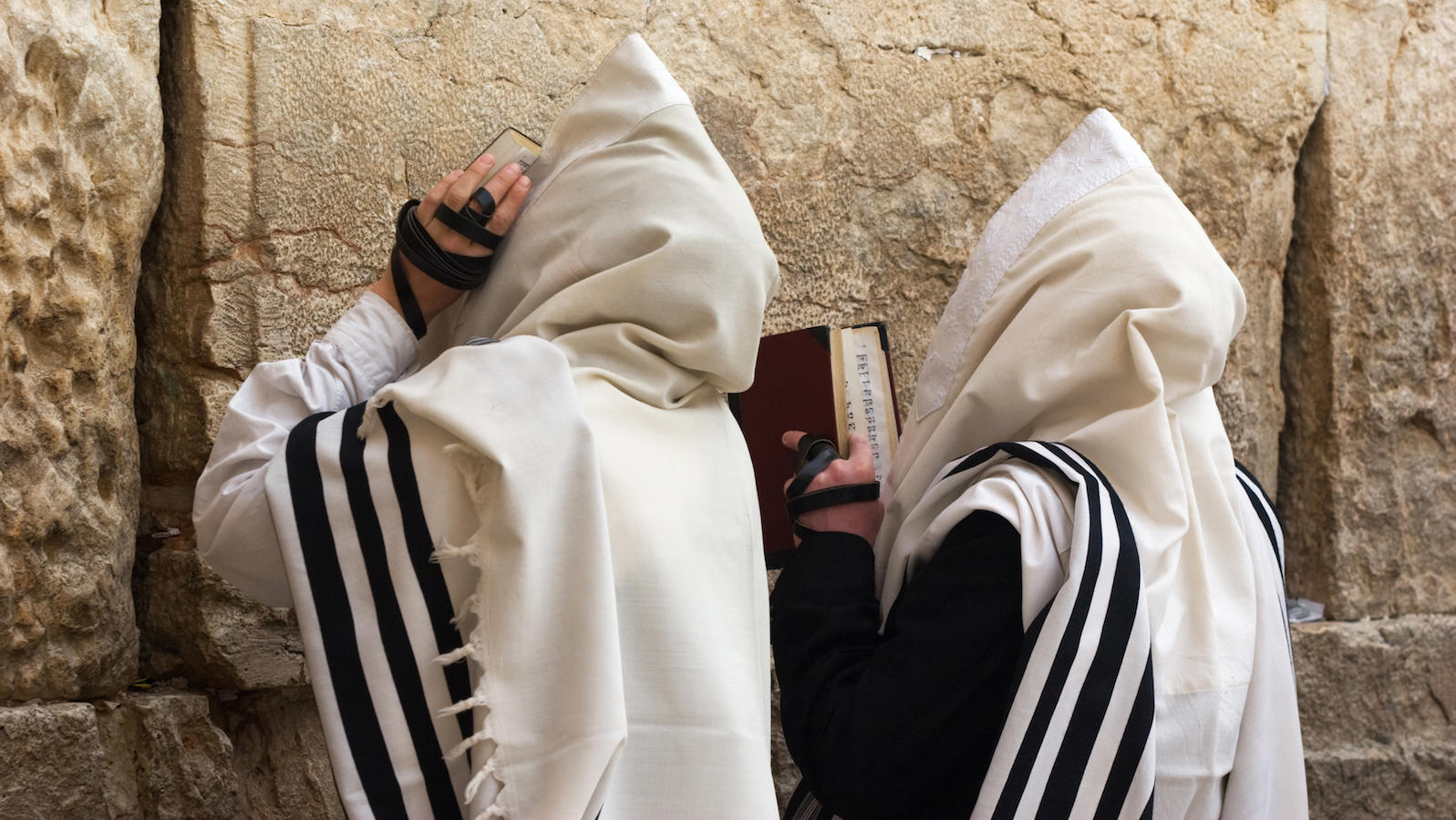 Tallit On People At Kotel